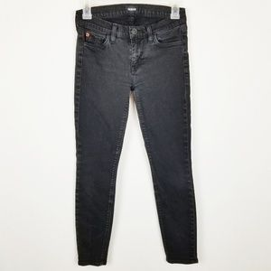 Hudson Black Skinny Crop Jeans